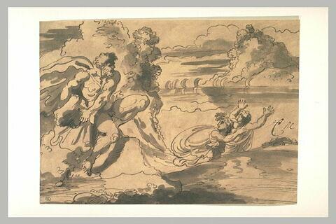 Polyphème menaçant Acis et Galatée
