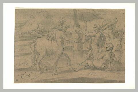 Hercule protégeant Déjanire du centaure Nessos