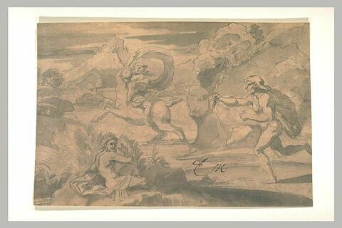 Hercule perçant le centaure Nessos enlevant Déjanire