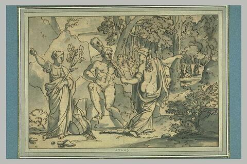 Hercule entre Minerve et Vénus