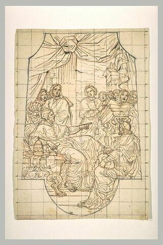 Saint grégoire instituant le chant grégorien