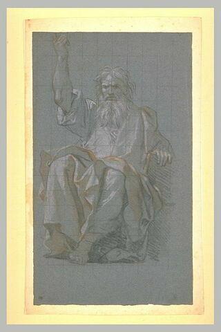 Un prophète assis, vu de face