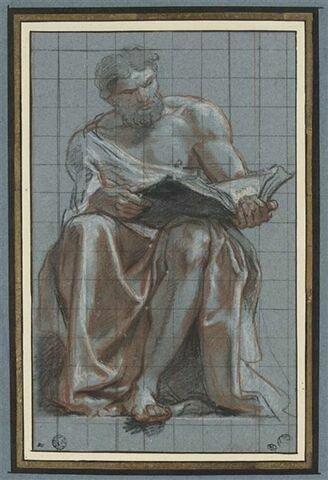 Un prophète assis lisant