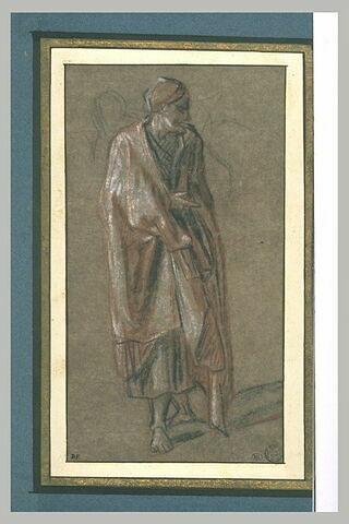 Une figure drapée, debout regardant à droite