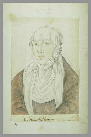 Portrait de Marie d'Autriche, reine de Hongrie