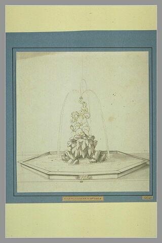 Projet d'une fontaine surmontée d'une figure tenant deux serpents (Hercule?)