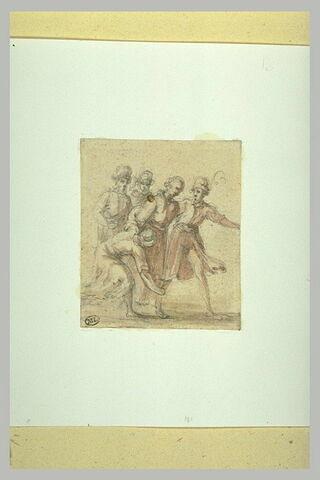 Cinq petites figures groupées, debout