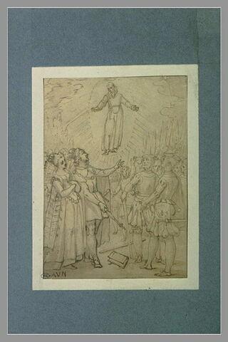 Saint François de Paule apparaissant à Louis XIII et Anne d'Autriche