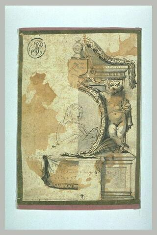 Etude de la partie droite d'un monument funéraire