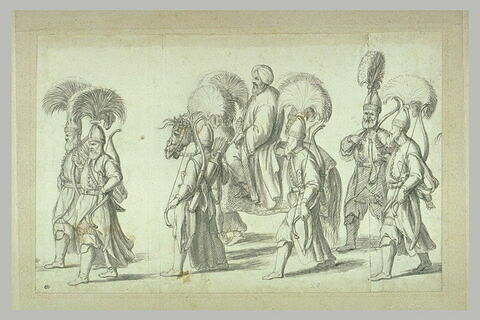 Sultan entouré de janissaires