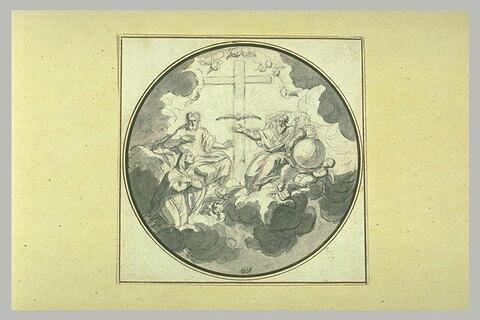 La Vierge intercédant auprès de la Sainte Trinité