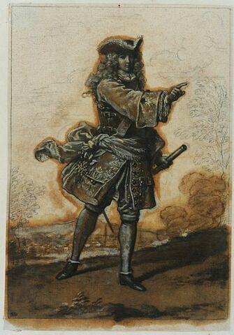 Un maréchal de France tourné à droite avançant le bras droit