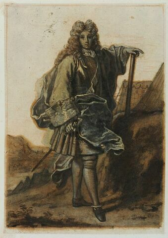 Un maréchal de France debout, tourné à droite, la figure de face
