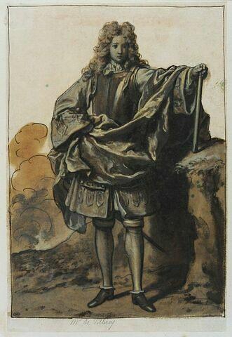 M. de Villeroy debout, de face