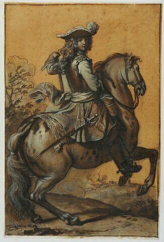 Un cavalier tpurné vers la droite