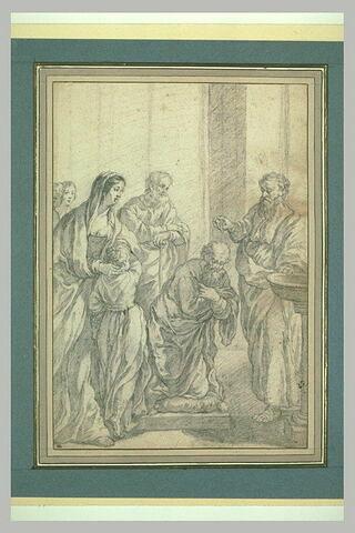 Le baptême d'un apôtre par un saint