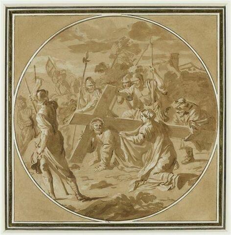 Jésus succombant sous le poids de la Croix, la rencontre de sainte Véronique