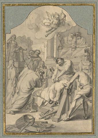 Le martyre de Sainte Barbe ordonné par le juge Marcien