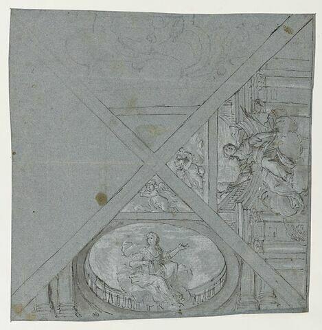 Décors de plafond avec les allégories de la Renommée et du Temps