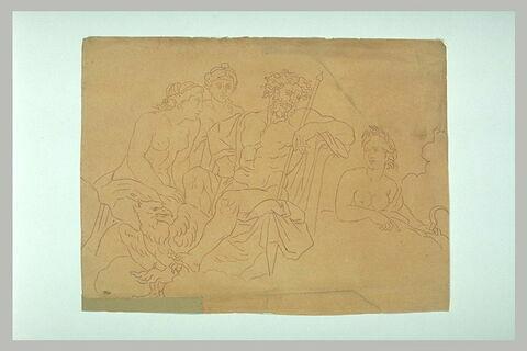 Jupiter, Junon, Cérès et une autre déesse