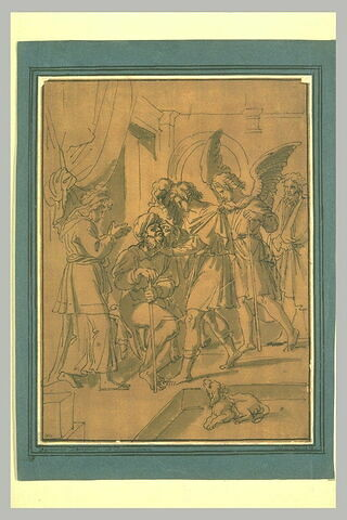Tobie conduit par l'ange Raphaël guérit son père aveugle