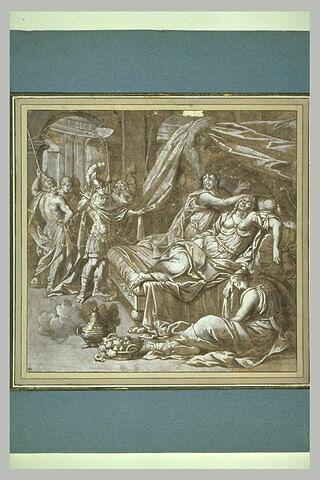 Antoine arrivant chez Cléopâtre et la trouvant morte