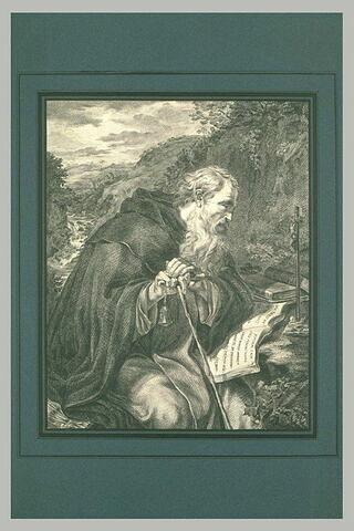 Saint Antoine lisant