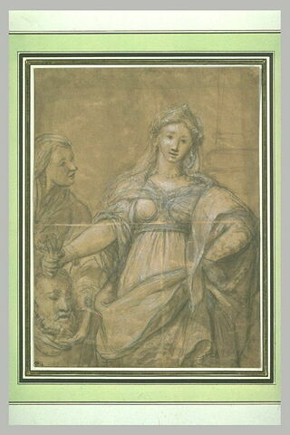Judith venant de trancher la tête d'Holopherne