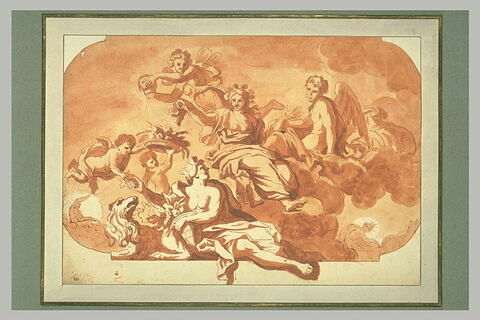 L'Automne, avec Apollon, Diane et Cybèle, étude pour un plafond
