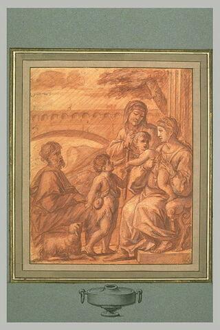 La Sainte Famille avec saint Jean et sainte Anne