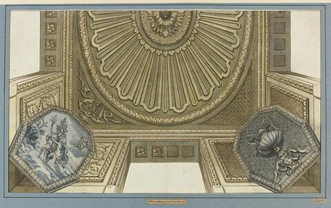 Etude d'ornement pour un plafond, avec Daphné changée en laurier