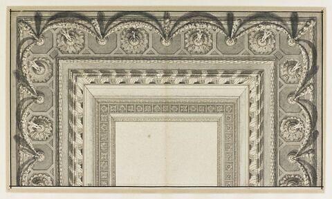 Etude pour la décoration d'un plafond