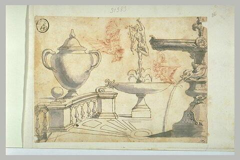 Etude d'après le Mercure de la fontaine de la loggia de la villa Medici