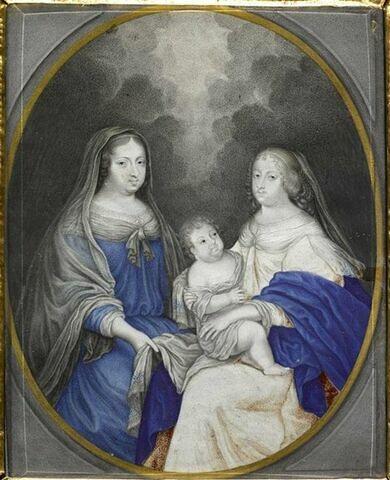 Anne d'Autriche et le Dauphin enfant