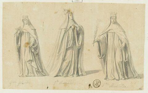 Sainte Félicité, et deux figures de sainte Mathilde