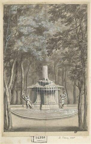 Vue d'une fontaine des jardins du château de Sceaux