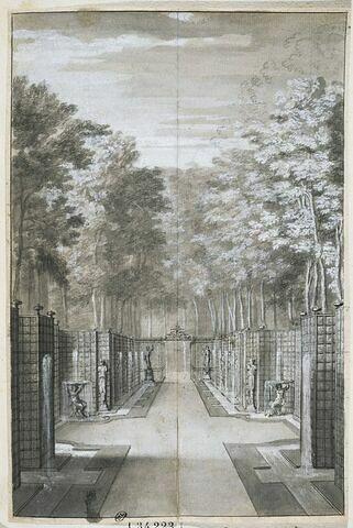 Vue de la galerie d'eau ou de la salle des antiques, à Sceaux