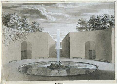 Projet de la fontaine de Cérès : l'Eté : à Versailles
