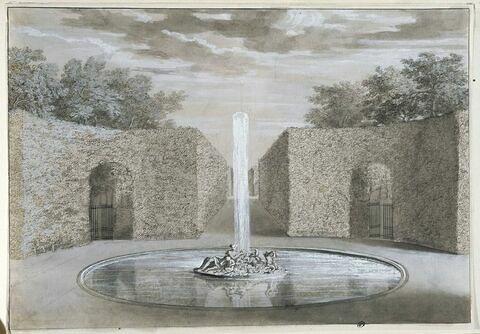Projet pour la fontaine de Bacchus : l'Automne : à Versailles