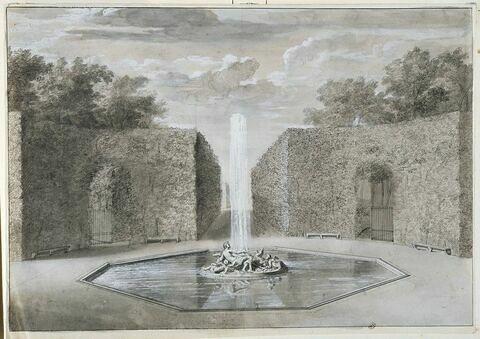 Projet de la fontaine de Flore : le Printemps : à Versailles