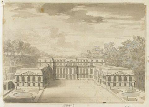Vue du château de Saint-Cloud
