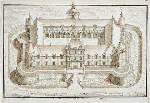 Vue du château de Chaulnes, en Picardie
