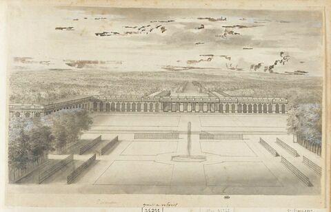 Vue de Trianon du côté du jardin
