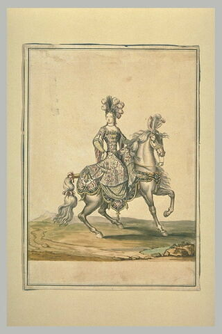 Costume équestre d'odalisque pour un carrousel