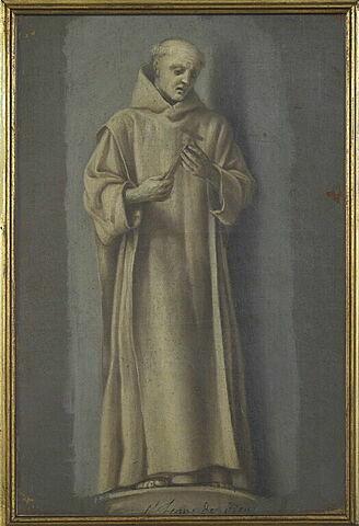 Saint Jean de Dieu, debout, méditant sur un crucifix