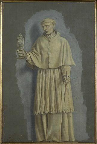 Saint Norbert tenant un ostensoir et un cierge