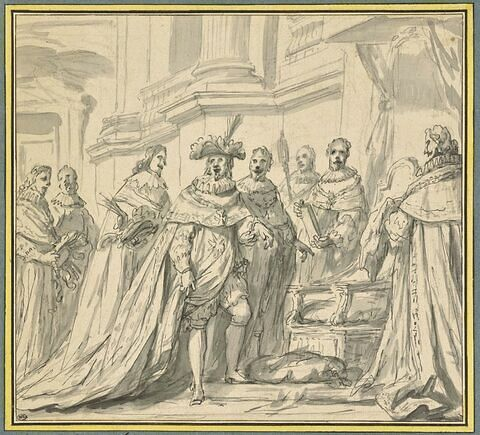 Episode de l'histoire de l'Ordre du Saint-Esprit, Henri IV dans l'église du couvent des Grands-Augustins