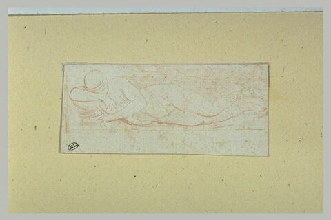 Une figure nue endormie, couchée sur le côté droit