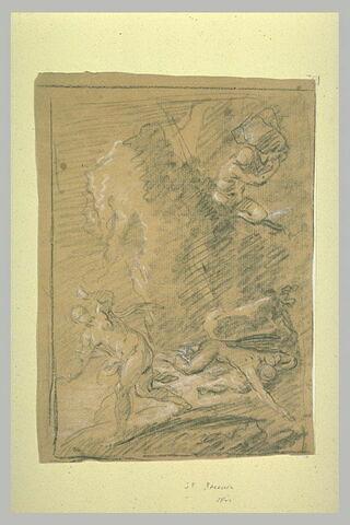 Polyphème attaquant Acis et Galatée