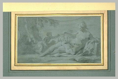 Vénus jouant avec deux amours